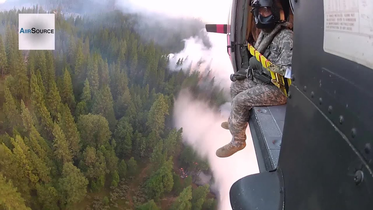 Aerial Firefighting: National Guard Helicopter Battles the Rim ...