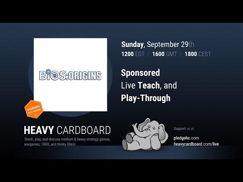 Bios Origins 4p Teaching & Play-through By Heavy Cardboard