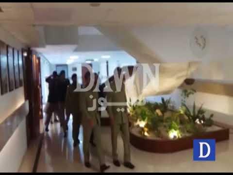 DG ISPR Major General Asif Ghafoor arrival at  Parliament House