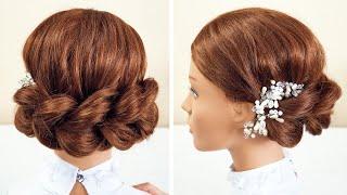 Праздничная причёска Объём из хвостиков