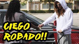 HOMBRE CIEGO ROBADO!! | Ricos contra Pobres | Experimento Social | Luan Palomera y Ana Victoria