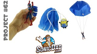 Free Instructions for Action Figure Parachute: SonicDad Project #62