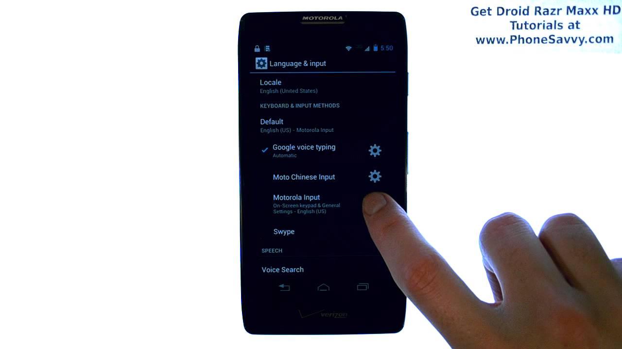 Motorola Droid Razr Maxx Hd Turn Off Or Disable Predictive Text Messaging  Block (contact Name