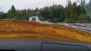 Стандартный УАЗ Патриот. Брод через реку Сев. Тошемка. На Перевал Дятлова