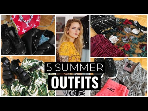 5 SUMMER OUTFITS | casual, alternative 4