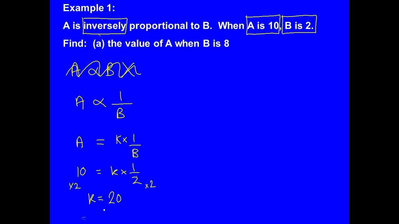 Directly And Inversely Proportional Worksheets images