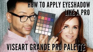 Best All-In-One Eyeshadow Palette | How to Blend like a PRO using Viseart | mathias4makeup