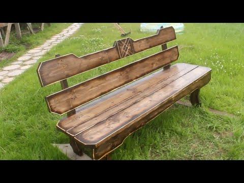 Красивые скамейки из дерева своими руками