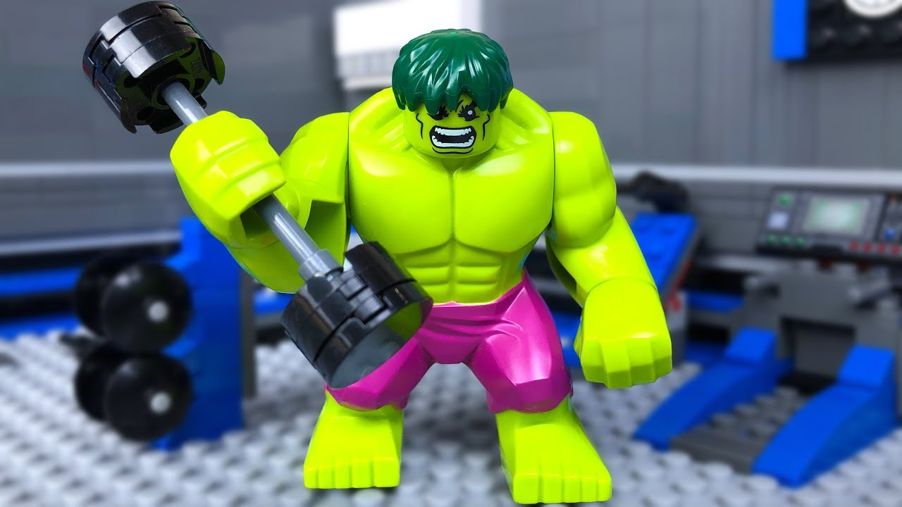 Lego Gym Fail 🔴 HULK Superhero  ☢ + Bonus