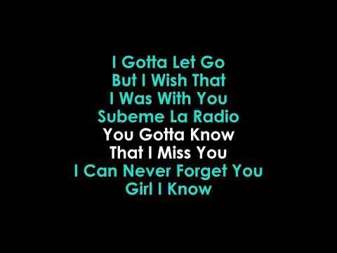 Subeme La Radio (Remix) karaoke Enrique Iglesias & Sean Paul  (Eng & Span)