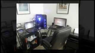 Z-line Belaire Glass L-shaped Computer Desk | Best Computer Desks For Home