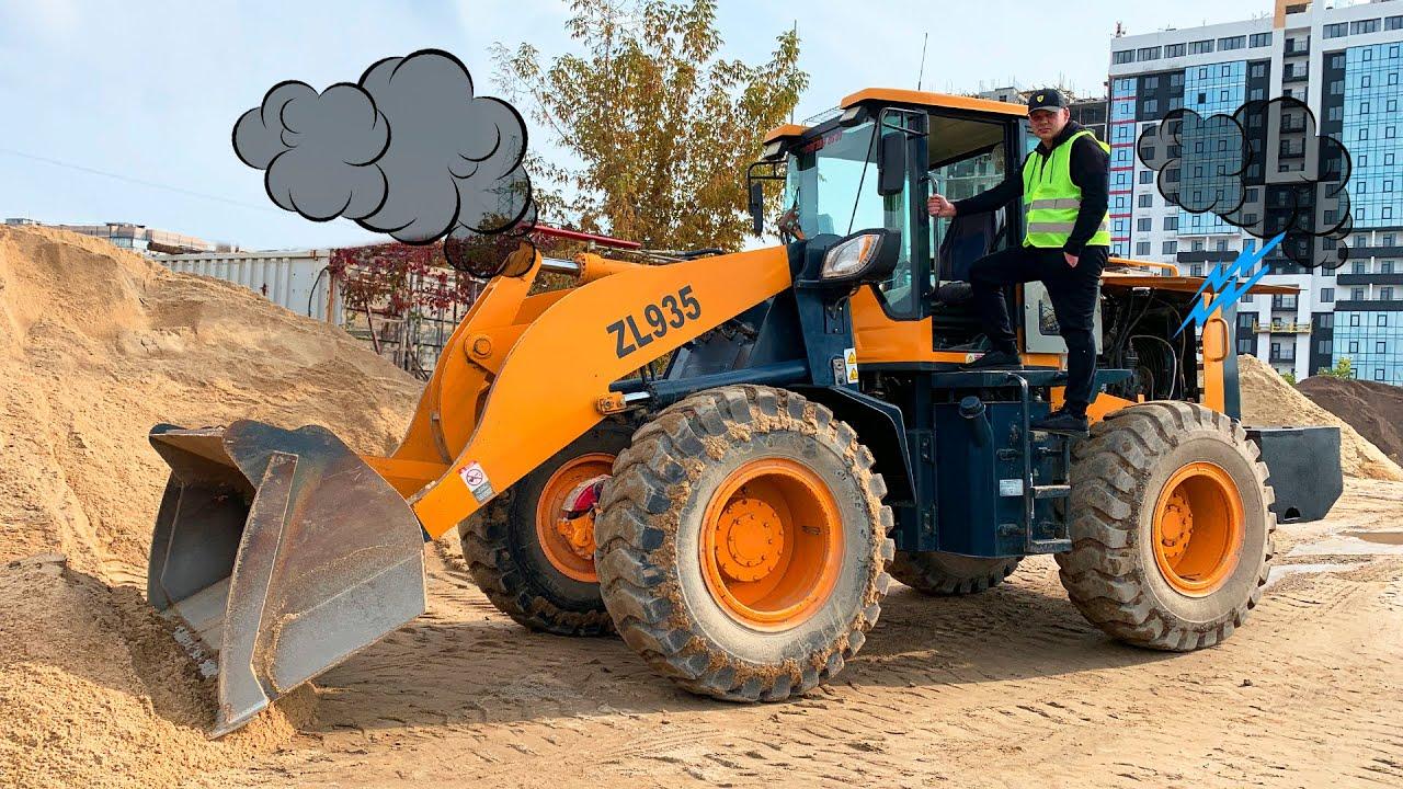 Riesiger Traktor lader ist kaputt - Dima hilft einem Mann