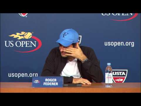 US Open 2013 Monday Interview Federer