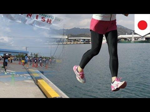 市民マラソン参加者が海に転落