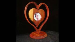 Make A Heart-in-a-heart Picture Frame With Wood. Awww...it's Cute.