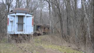 Trains in southern Indiana