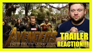 AVENGERS INFINITY WAR Official Full TRAILER REACTION!!!