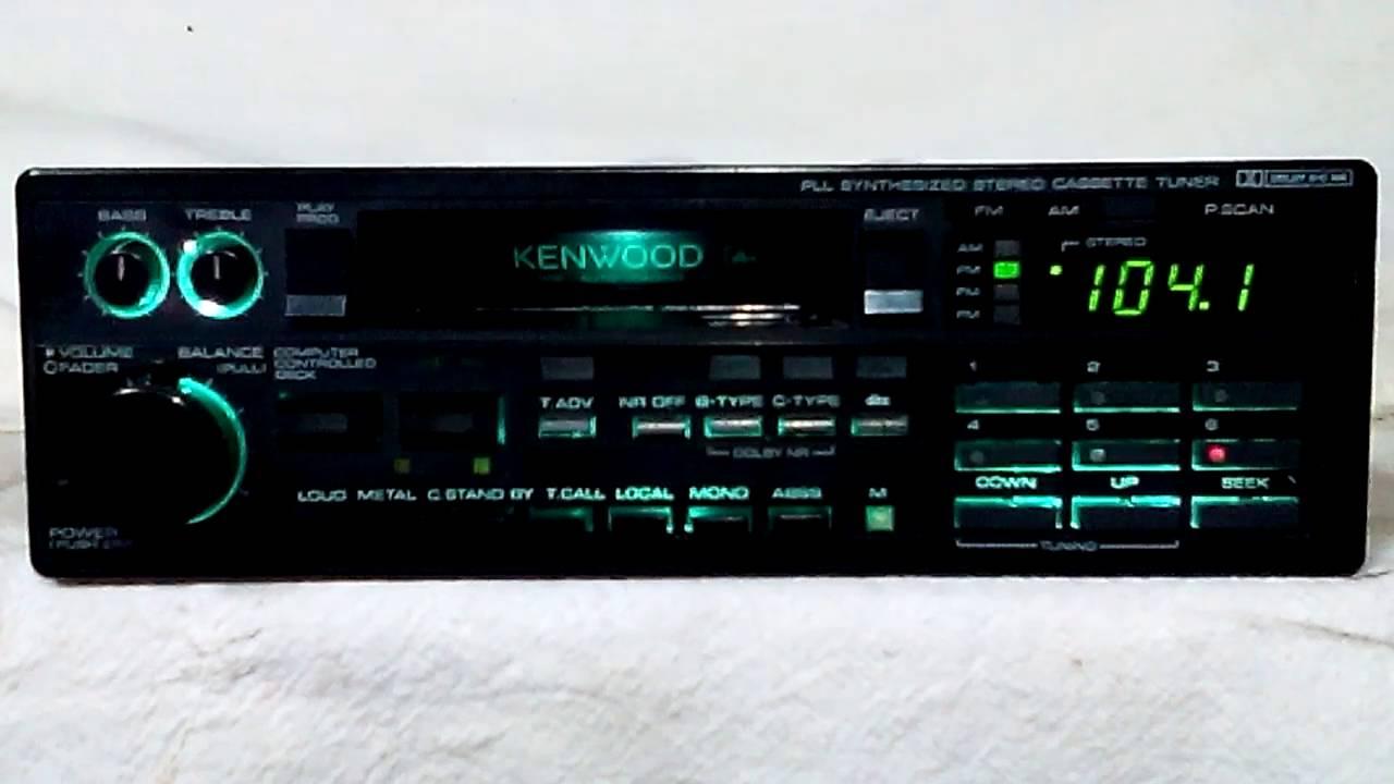 Vintage Kenwood KRC 929 AM FM Cassette Car Stereo