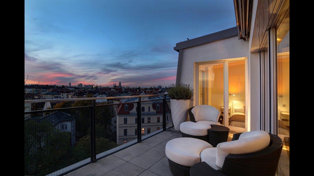 dachterrassen penthouse m nchen maistrasse zu verkaufen. Black Bedroom Furniture Sets. Home Design Ideas
