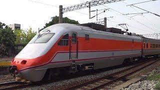 125次自強號與7202次貨物列車在大林車站交會