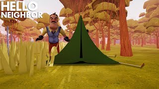 CAMPING WITH THE NEIGHBOR!!! | Hello Neighbor (Beta)