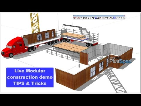 Modular construction with BIM Live tutorial.