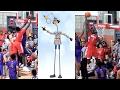 Manute Bol's 7' Son Bol Bol Is The Inspector Gadget Of Basketball! Raw Footage Highlights