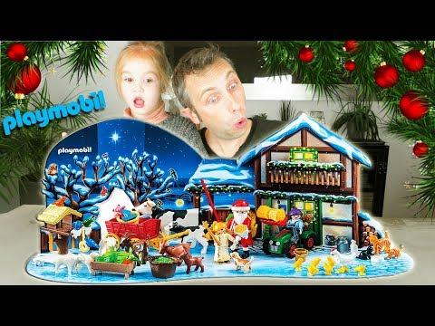 Calendrier de l'Avent Playmobil 2017 : Ferme et Père Noël. On ouvre tout le même jour ! Unboxing
