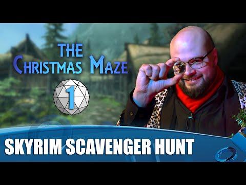 The Christmas Maze Episode 1 - Skyrim Scavenger Hunt