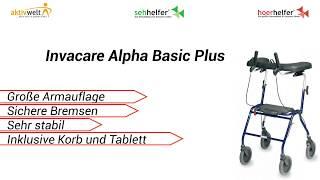 Produktvideo zu Spezial-Rollator Invacare Alpha Basic Plus