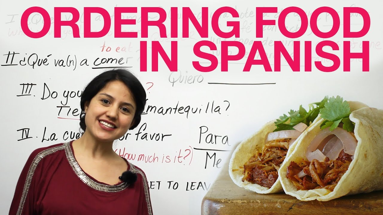 How to order food in spanish youtube for Cuisine in spanish