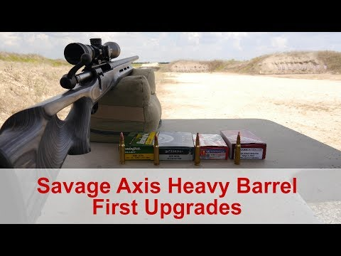 Savage Axis Heavy Barrel Upgrades and  308 Ammo Comparison