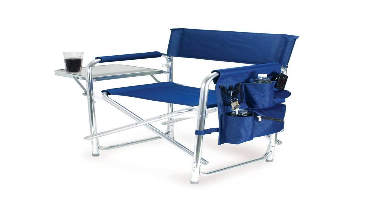 Coleman Portable Deck Chair Hanging With Footrest Side Table Youtube