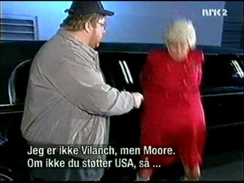 Madtv - Michael Moore (Paul Vogt) gets beat up by Barbara Bush (Mo Collins)