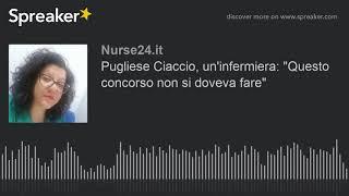 Pugliese Ciaccio, un'infermiera: