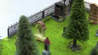 """Гробовой макет """"Секс на кладбище"""" в масштабе 1/87"""
