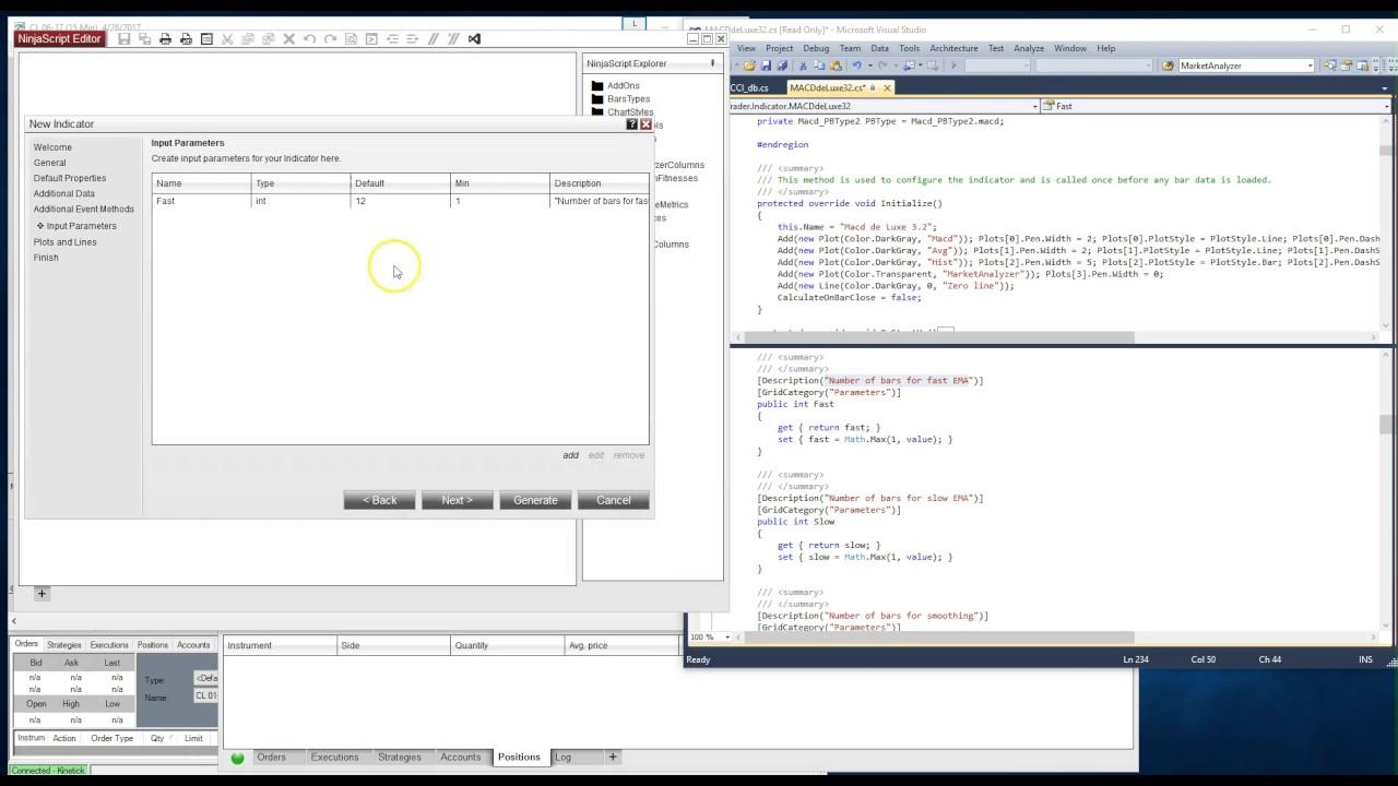 Converting Ninjatrader indicators from NT7 to NT8 Part I