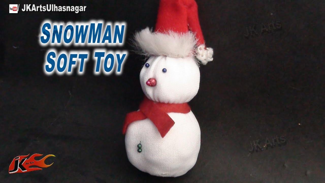 How to make snowman   DIY Snowman from a sock   JK Arts 755 - YouTube