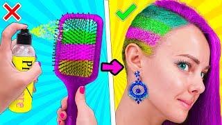 КЛАССНЫЕ БЬЮТИ ЛАЙФХАКИ и причёски для девочек! Идеи для Школы своими руками LIFE HACKS