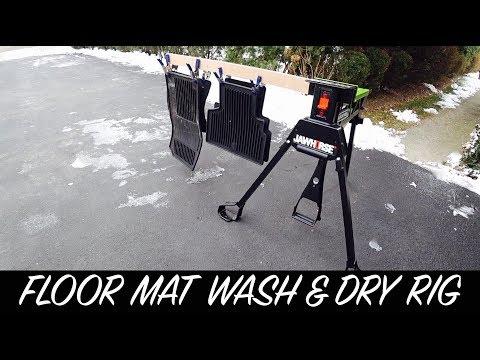 Floor Mat Wash and Dry DIY Rack   Auto Fanatic