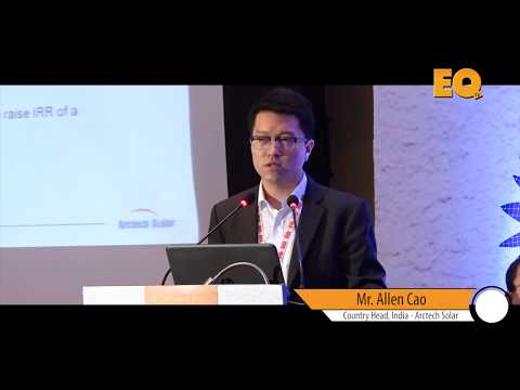 Allen Cao Country Head, India - Arctech Solar at EQ SolarTech Conference