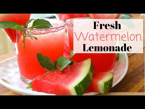 Fresh Watermelon Lemonade Recipe ~ Summer Drinks!