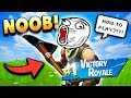 Noob Get Solo Victroy Royale in Fortnite