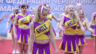 """""""Smile"""" cheer team. 21.02.2016 - студенческая и школьная лига по черлидингу РБ."""