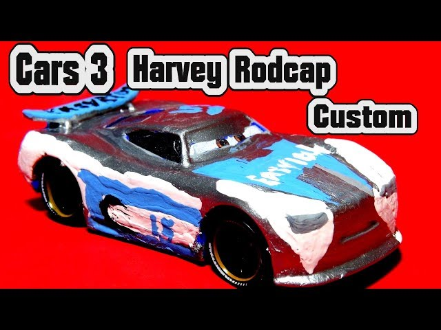 Pixar Cars 3 Harvey Rodcap Custom from Danny Swervez with Miss Fritter and Primer Lightning McQueen