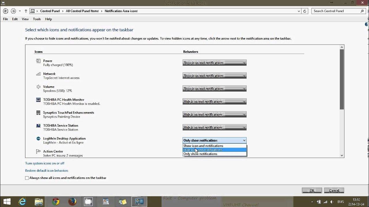 change taskbar icon windows 8