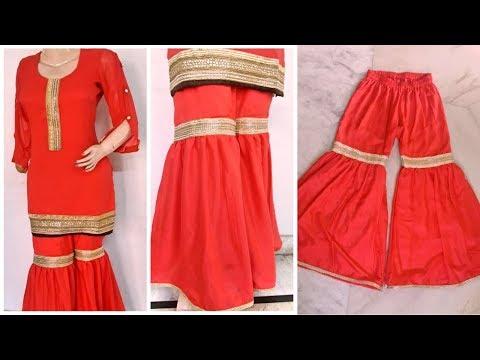 Gharara/Sharara Cutting and Stitching || Gharara making || Reet Designs