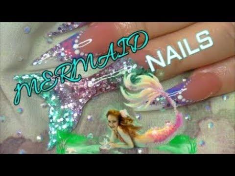 REAL MERMAID ACRYLIC NAILS! | ABSOLUTE NAILS