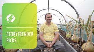 Giant Vegetable Whisperer Strokes Leeks To Help Them Grow