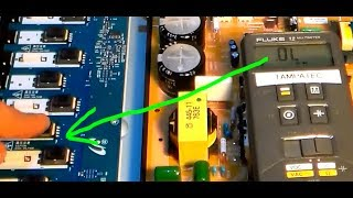 LCD TV repair no backlight black screen troubleshooting guide for Sony Bravia, bad inverter board